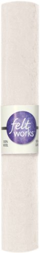 Dimensions Needlecrafts Feltworks Felt, White (Felt Embellished)