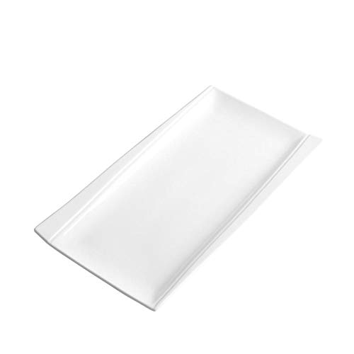 Rectangular Baking Platter - UIBFCWN Porcelain Serving Platters Large Rectangular Serving Tray - White,17 inch9 inch