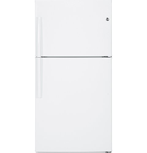 GE GTE21GTHWW 21.2 Cu. Ft. White Top Freezer Refrigerator - Energy Star by GE