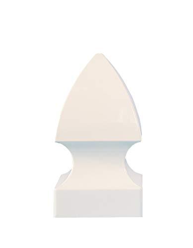 (CC Outdoor Living 4x4 Crisp White Classic Gothic Style PVC Fence Post Cap)