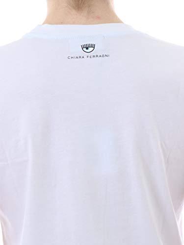 Chiara Ferragni cft066 19pe Donna Bianco T shirt Mod UHRF1qU