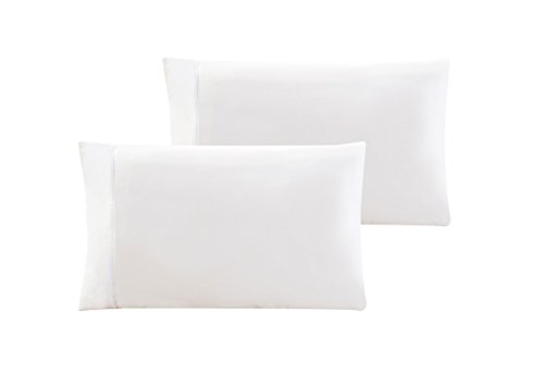 QUEEN size Solid WHITE Pillow Cases 1500 Thread Count Egyptian Quality 2 piece set, Silky Soft & Wrinkle Free