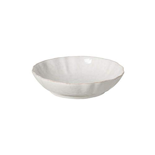 "Casafina Stoneware Ceramic Impressions Collection Ind. Pasta Bowl D9"" H2"" 40 oz White"
