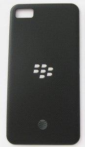 OEM AT&T Black Blackberry Z10 Back Cover Battery Door Cover AT&T Logo NF…