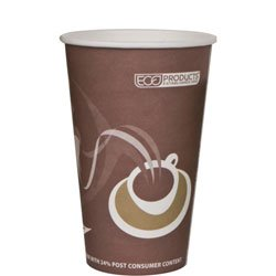 Eco-Products Evolution World 24% PCF Hot Drink Cups, 16oz, Purple, 1000/Carton ECOEPBRHC16EW