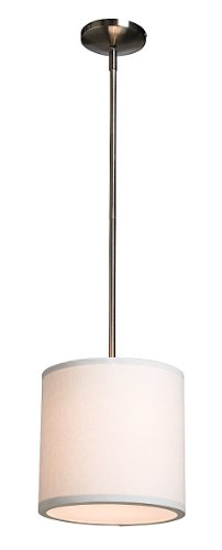 Artcraft Lighting Mercer Street Drum Shade Light, White with White Linen Shade Review