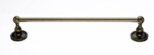 Top Knobs ED10GBZE Bath Edwardian Collection 30 Inch Single Towel Bar with Ribbon Backplate, German Bronze Finish (Backplate German Bronze Finish)