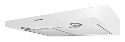 Ancona White Slim 5-Inch High 280 CFM 3-Speeds Under Cabinet Range Hood, 30-Inch by Ancona