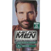 JUST FOR MEN Color Gel Mustache & Beard M-45, Dark Brown 1 Each(Pack of 12) by Just for Men