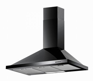 Baumatic Black Chimney Cooker Hood 90CM Telescopic 900mm F902BL Amazoncouk Large Appliances