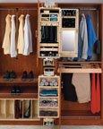Closet Armoires-Ladie's, 8''W x 16''D x 42''H, Ladies' Armoire