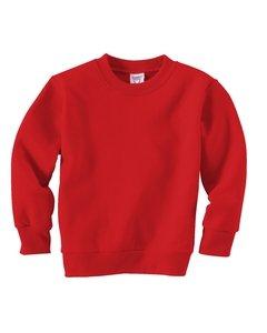 Rabbit Skins Toddler Crewneck Sweatshirt, Red, 5/6T