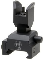 - G&G GGG-1281 Spring Actuated Flip Up Front Sight for Dovetailed Gas Blocks