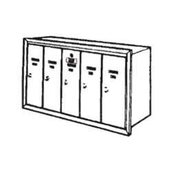 Bommer 9040-5-628 Vertical Mailbox for 5 Tenants-Anodized Aluminum