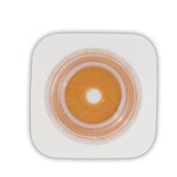 Natura® Stomahesive® Skin Barrier, Flexible Pre-Cut 4'' x 4'' Wafer, Tan, 1-3/8'' Stoma, 1-3/4'' Flange