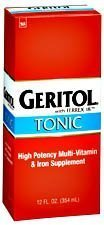 Geritol H-Potency Multi-Vit&Iron Supplement Tonic by Geritol