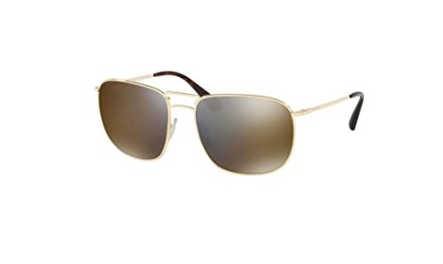Prada Gold Lens (Prada PR52TS 5AK4L0 Gold PR52TS Oval Sunglasses Lens Category 3 Lens Mirrored S)