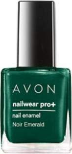 Avon Nailwear Nail Enamel - Avon Color Nail Enamel Nailwear Pro Plus 8 ml(Noir Emerald)
