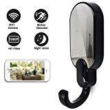Daretang 1080p Super Hidden Night Vision Wifi Spy Clothes Hook Camera,12Mp Nanny Cam