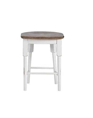 Progressive Furniture D884-64 Shutters Counter Stool (1/Ctn), Light Oak/Distressed White