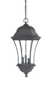 Acclaim 3626BK Waverly Collection 3-Light Outdoor Light Fixture Hanging Lantern, Matte Black