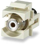 SIGNAMAX CMK-RCAR-WH RCA Red Feed-Thru Keystone Connector Module, - Feed Module Thru