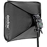 (Godox 80x80cm Softbox Bag Kit for Camera Studio Flash fit Bowens Elinchrom Mount)