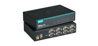 Moxa UPort 1650-8 - 8 Ports USB-to-Serial RS-232/422/485 Converter, USB 2.0 hi-Speed, 921.6Kbps, 15KV ESD Protection, Mini DB9F-to-TB