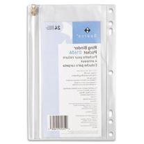 SPR01606 - Vinyl Ring Binder Pocket, 9-1/2x6, Clear, 24 Pack