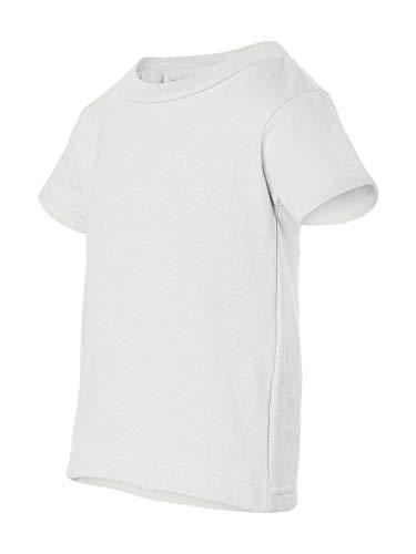 Rabbit Skins Infant Crewneck Short-Sleeve T-Shirt, White, 24 Months