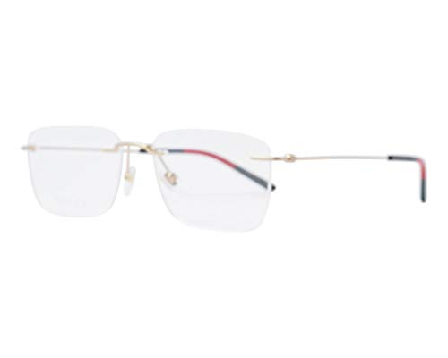 Gucci GG 0399O 002 Light Gold Metal Rimless Eyeglasses 56mm