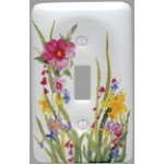 Porcelain Floral Yellow - Leviton Wildflower Porcelain Light Switch Cover Toggle Wall Plate 89501-WFL