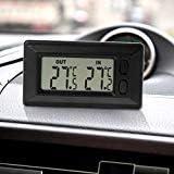 per interni ed esterni Qiulip Termometro digitale LCD per auto con cavo da 1,5 m