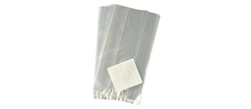 BonBon Paper Clear Plastic Favor & Gift Bags (Gusseted 4 x 2 x 8 inch)