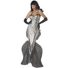 [Sexy Submariner Bettie Page Mermaid Costume - Womens 8-10] (Bettie Page Halloween Costume)