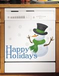 Appliance Art Happy Holidays Snowman Decorative Magnetic Dis