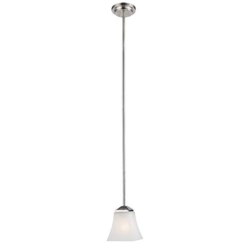 Design House 514851 Torino 1 Light Mini Pendant, Satin Nickel