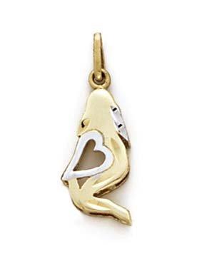 "14 carats-Bicolore-""Virgo"" Vierge-Signe astrologique Zodiaque Zodiac-JewelryWeb"