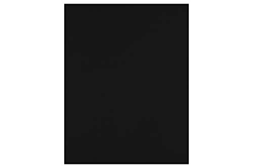 """LUXPaper 8.5"""" x 11"""" Cardstock for Crafts and Cards in Midnight Black, Scrapbook Supplies, 50 Pack (Black)"""