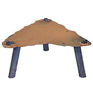 Riser Stand Fire Pit Size: 12