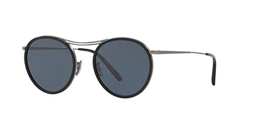 Oliver Peoples OV1219S - 5244R5 Sunglasses Antique Pewter w/ Blue Lens 51mm