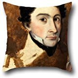 Oil Painting Colonel William Light - Self Portrait Throw Pillow Covers 18 X 18 Inch / 45 By 45 Cm Gift Or Decor For Kitchen,kids Girls,home,indoor,chair,kids Room - Twin (Colonel Costume For Kids)