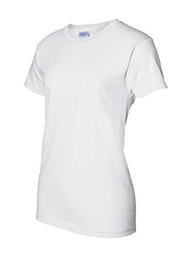 Gildan Ultra Cotton Ladies 6 oz. T-Shirt, Small, White