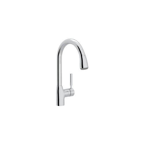 Rohl R7505APC-2 R7505-2 Lux Kitchen Faucet with Pull Out Spray and Metal Lever Handle, Polished Chrome by Rohl