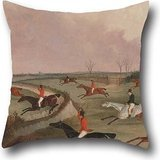 18 X 18 Inches / 45 By 45 Cm Oil Painting John Dalby - The Quorn Hunt In Full Cry- Second Horses, After Henry Alken Cushion Covers,each Side Is Fit For Son,dance Room,gril Friend,car,valentine,home