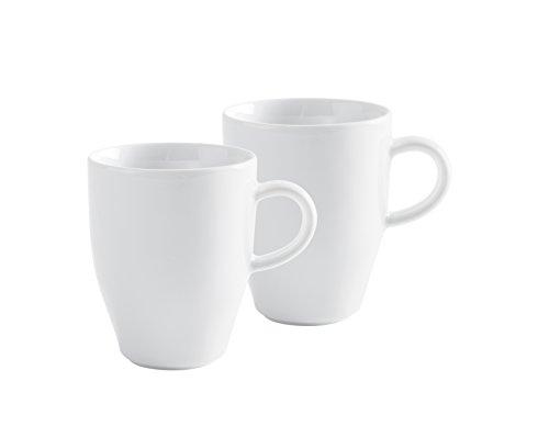 KAHLA Cafe Sommelier Mug Set, White Color,  Set of 2 Pieces