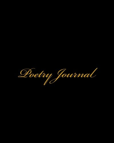 Poetry Journal: An Extra Large 8x10