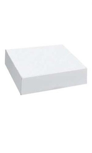 Count of 50 Apparel Boxes - White - 86205 with 19'' x 12'' x 3''