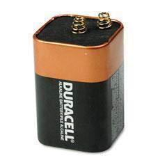 DURMN908 - Material : Alkaline Manganese Dioxide - Duracell Coppertop Alkaline Lantern Battery - Each ()