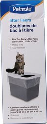 Petmate 684725 Top Entry Litter Pan Liners - Clear 8 Count by Petmate (Petmate Liner)